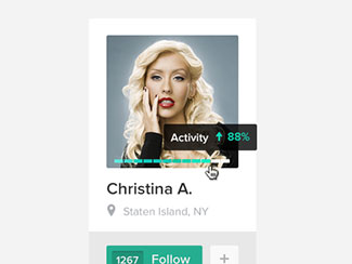 Follow Christina. PSD
