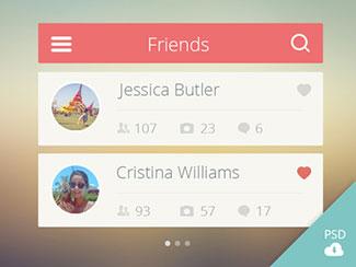 Friends list UI