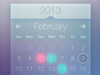 Calendar Widget By Bulat Zalyayev