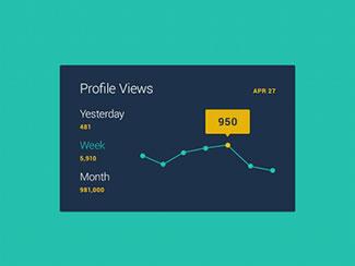 Mini Stats UI (Free PSD) By Amit Jakhu
