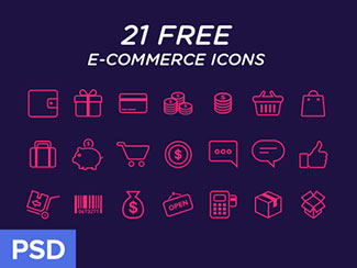 e-commerce Icons freebie By Virgil Pana