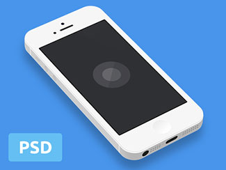 Minimal iPhone5 Template PSD