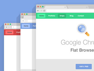 Flat Psd Browsers Set By Pixeden