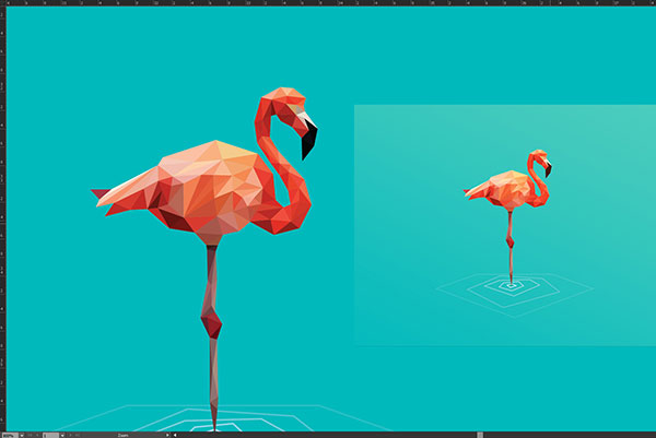 Flamingo Poly Logo Development