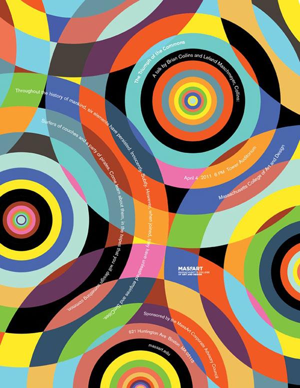 Poster design forMassachusetts College of Art