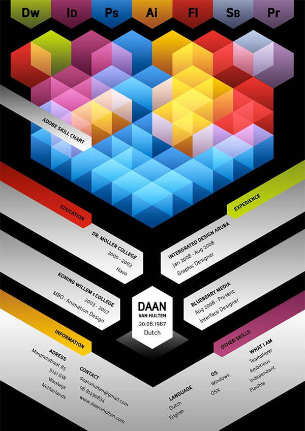 Designers own resume