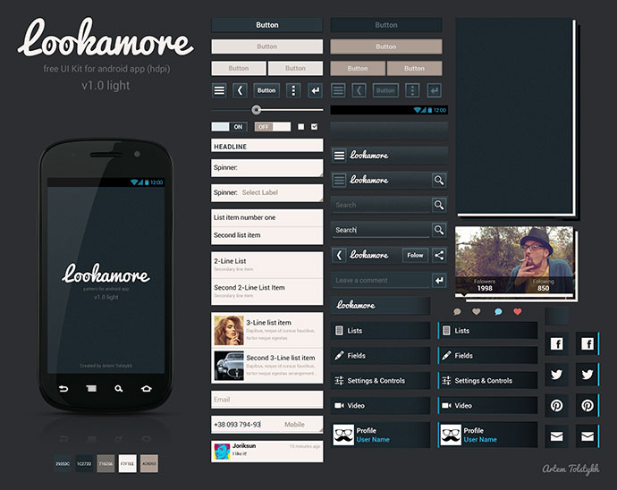 Lookamore Android Ui Kit 2