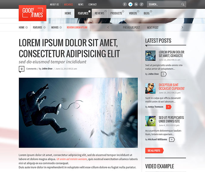 28 Amazing PSD Magazine Website Templates
