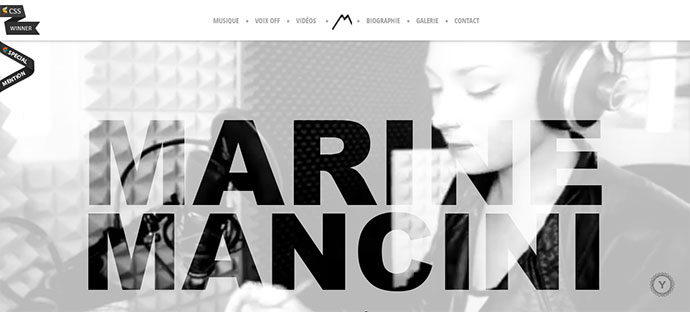 marine mancini music website