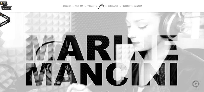 marine mancini music website