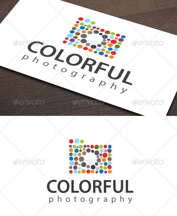 Colorful Photography Logo Template