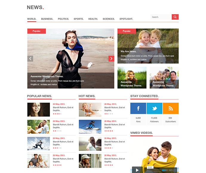 News - Blog, Magazine PSD