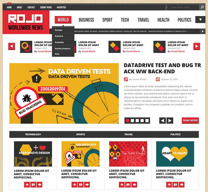 ROJO | Magazine/News PSD Template