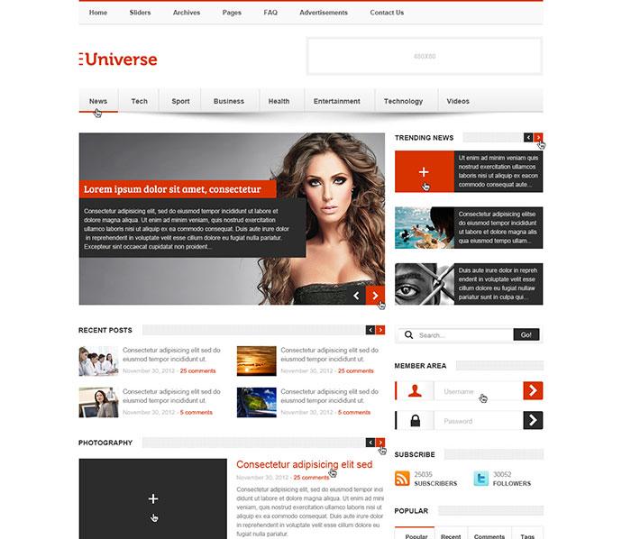 28 Amazing Psd Magazine Website Templates Web Graphic Design