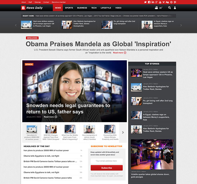 Online Newspaper Template | 28 Amazing Psd Magazine Website Templates Web Graphic Design On
