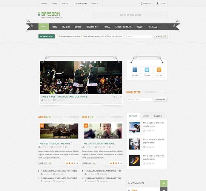 Barsoom - 12 PSD Magazine, News and Blog Template