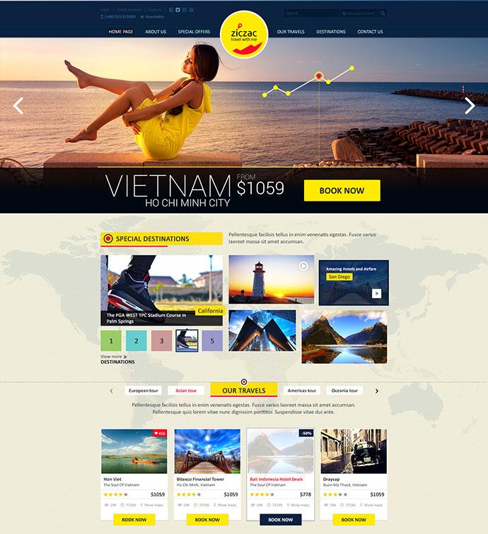 22 Beautiful Travel Website Templates | Web & Graphic Design ...