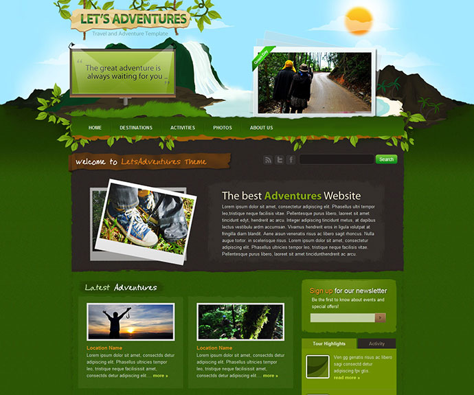 Lets Adventures HTML/CSS template