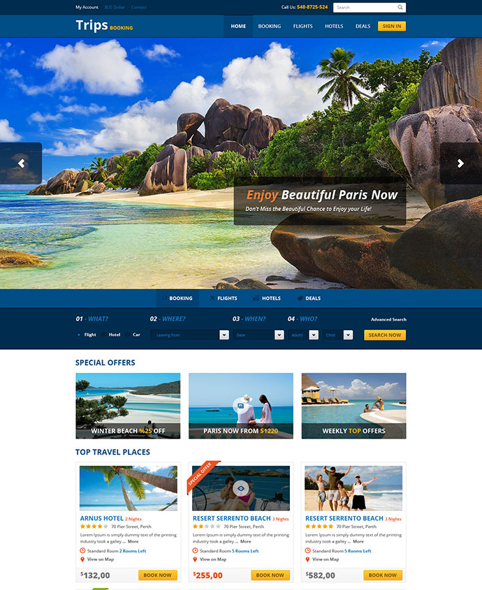 22 Beautiful Travel Website Templates | Web & Graphic Design ...