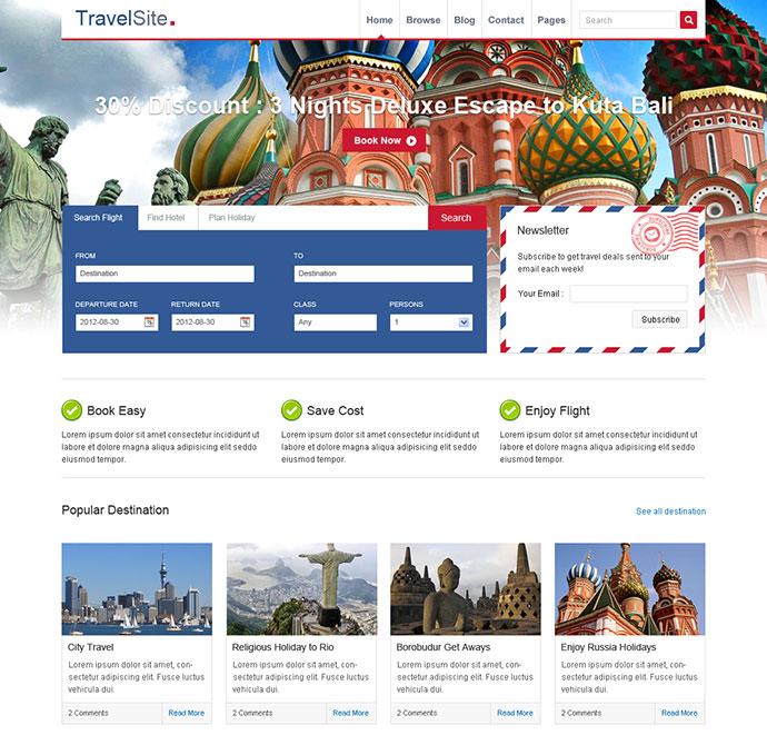 TravelSite - Responsive HTML Template