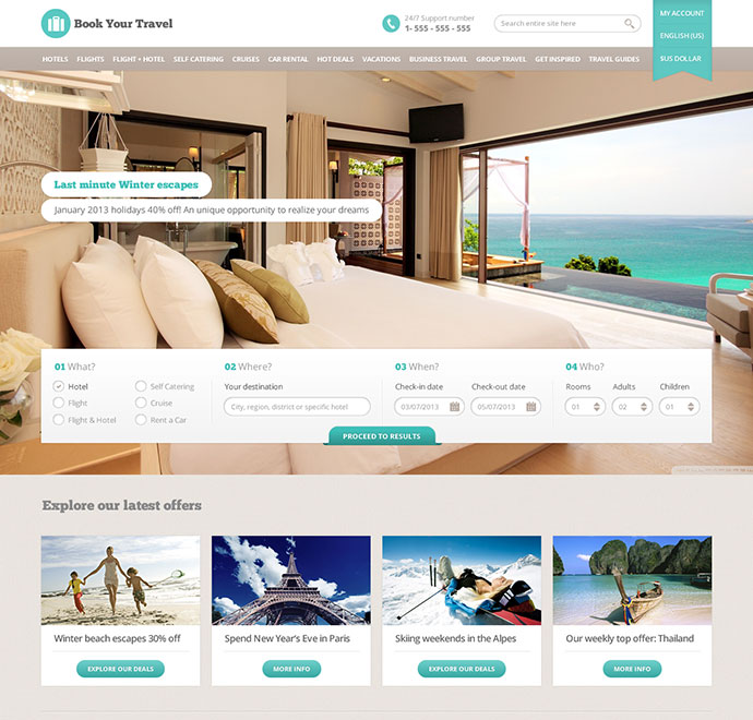 Book Your Travel Online Booking Html Template