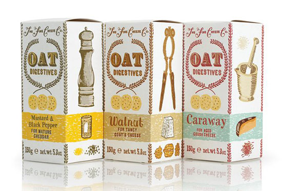 Oat biscuits. Illustration by Julian Roberts.