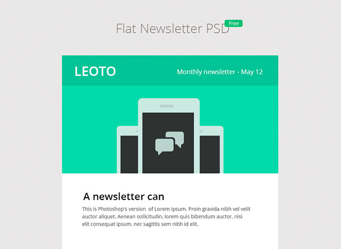 Flat-Newsletter-PSD-3