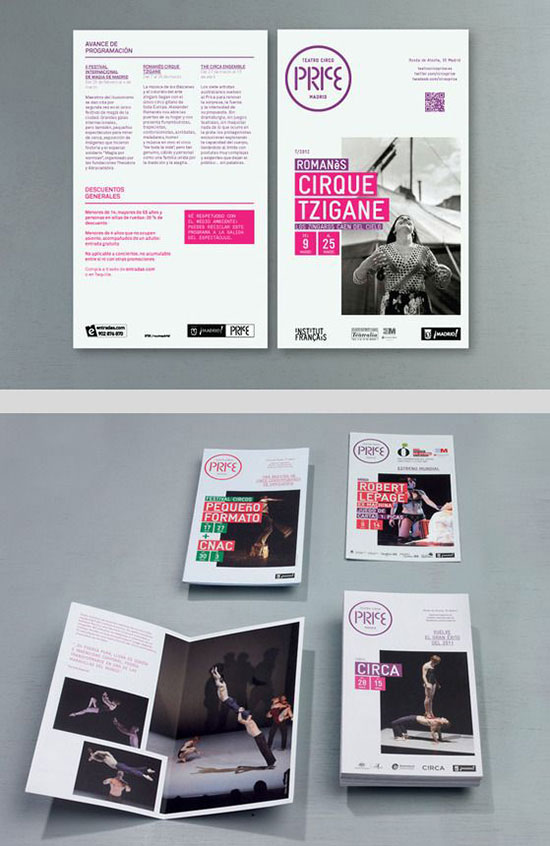 Teatro Circo Price programme and print advertising