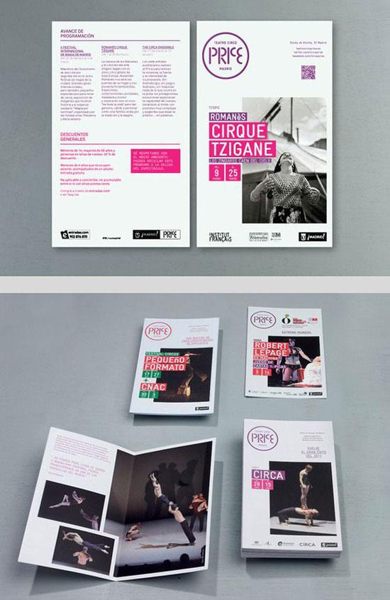 Teatro Circo Price programme and print advertising