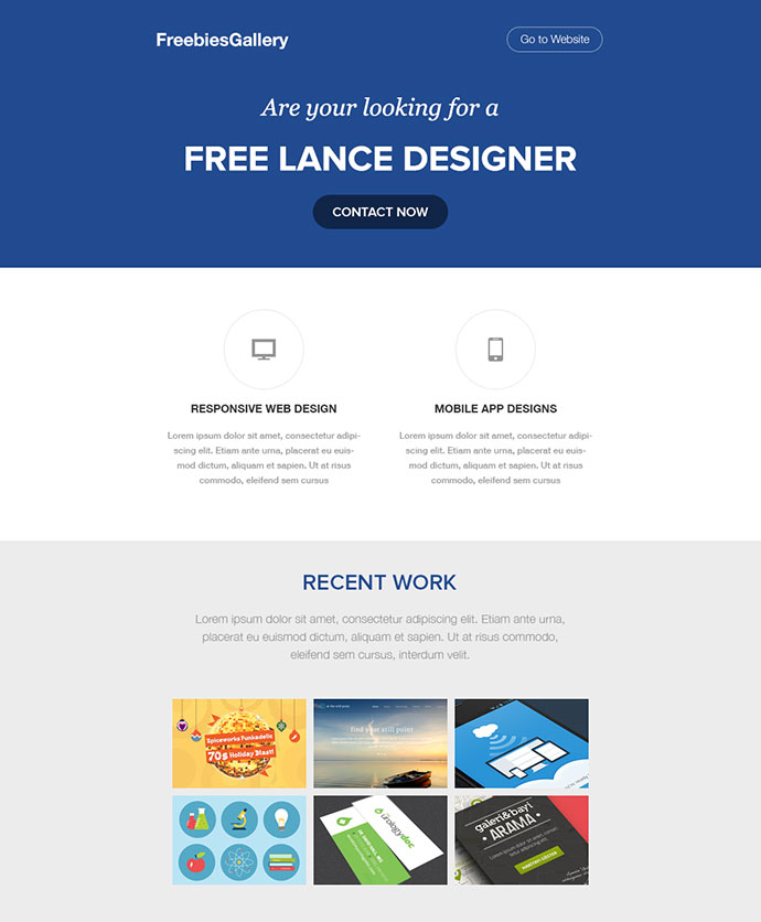 6 Free Email Newsletter PSD Templates