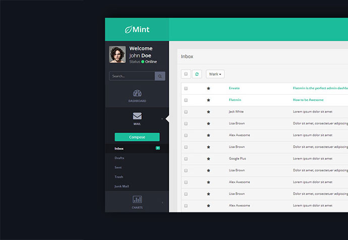25 modern flat admin dashboard templates web graphic design