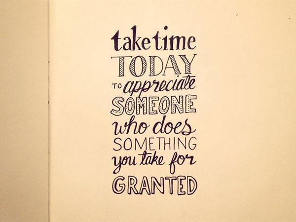 Take time today...
