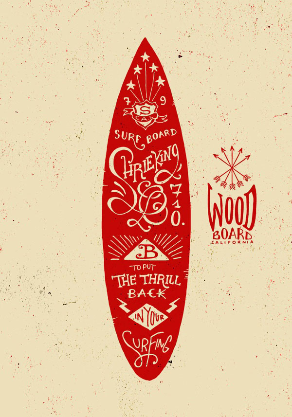 Graphic hand lettering boards