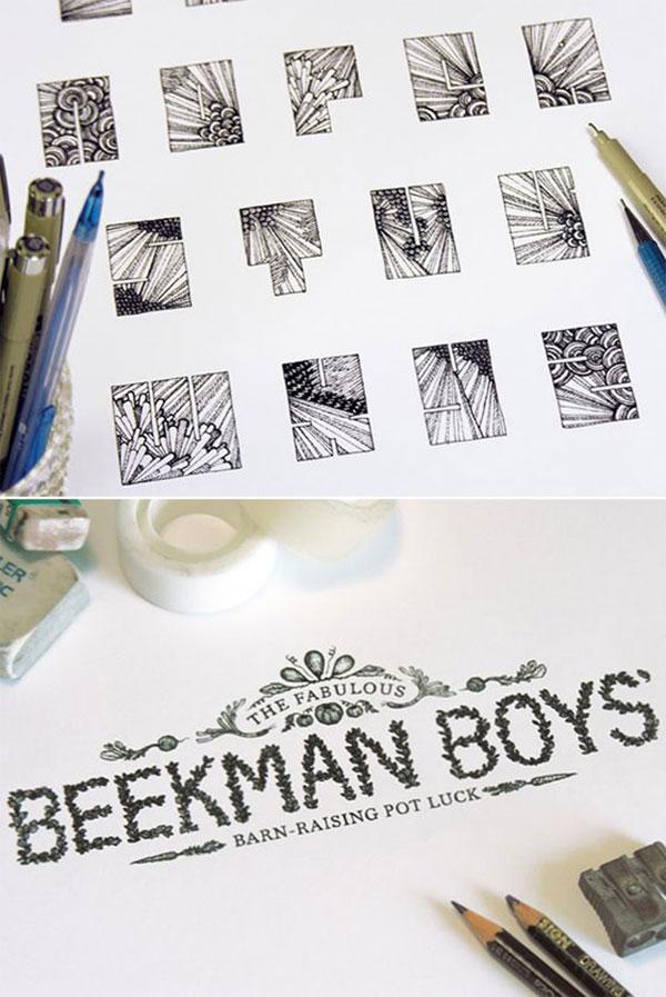 hand-drawn typography designs