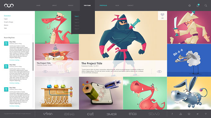 8 Creative Free Portfolio PSD Web Templates | Web & Graphic Design ...