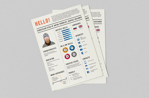 Bashooka  Resume Design Inspiration