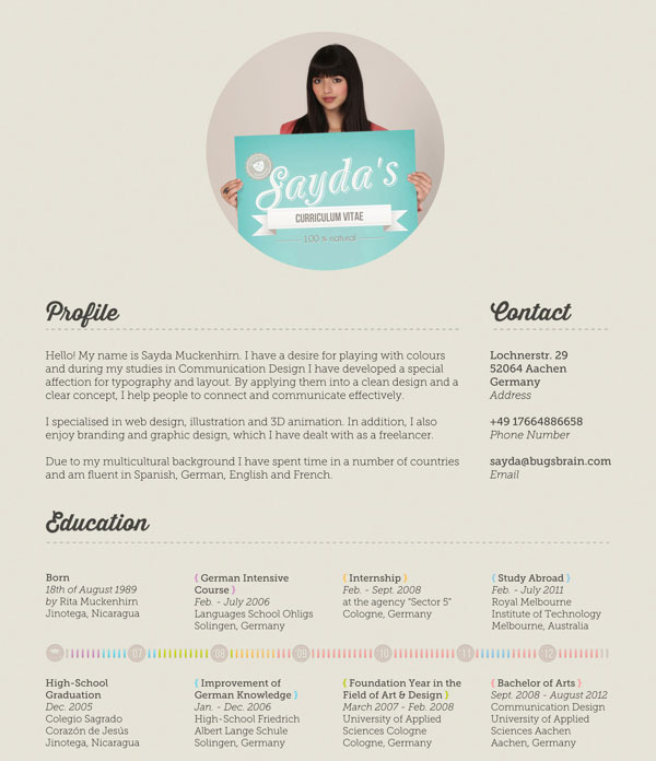 Resume Design Inspiration Glamorous 40 Creative Cv Resume Designs Inspiration 2014  Web & Graphic .