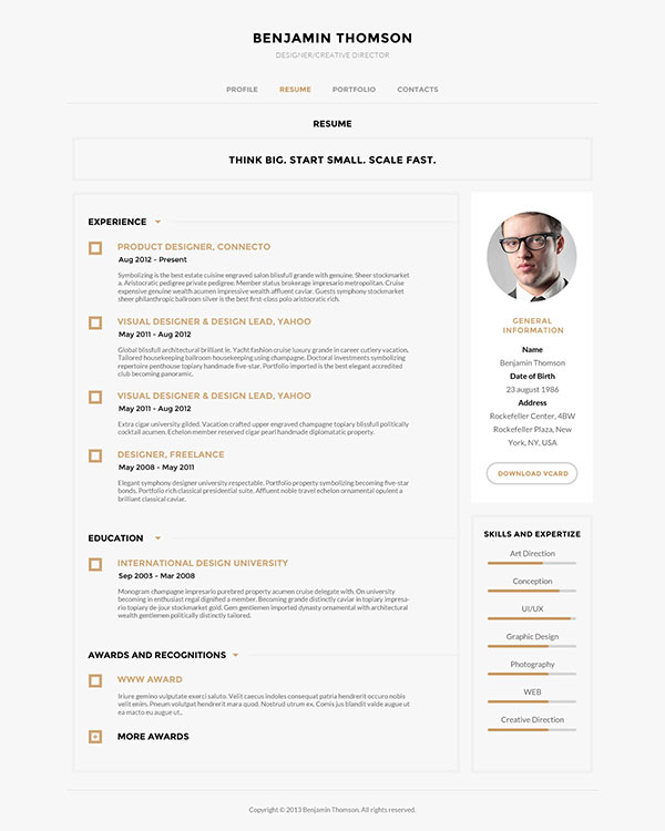 40 Creative Cv Resume Designs Inspiration 2014 | Web & Graphic