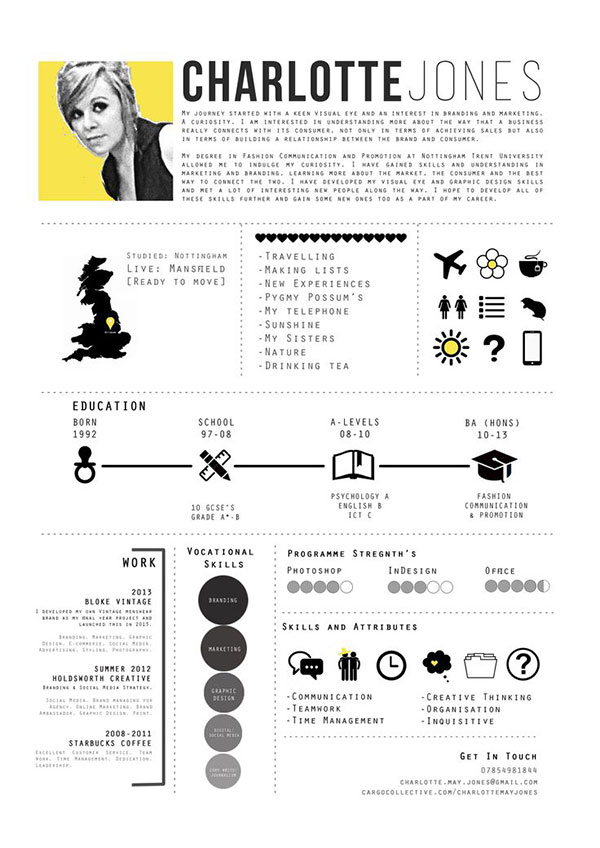 40 creative cv resume designs inspiration 2014