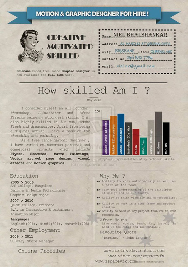 40 Creative CV Resume Designs Inspiration
