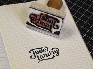 Jude Script Logo Stamp