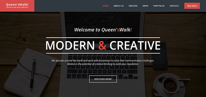 QueensWalk - Creative One Page Template