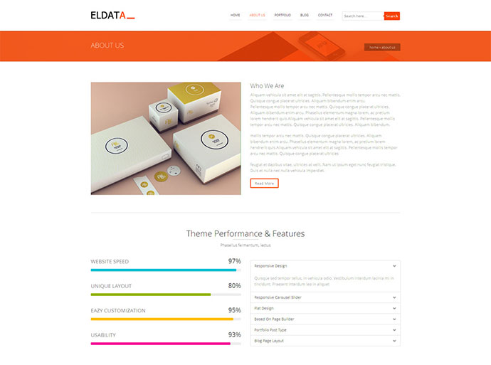Eldata -  Responsive HTML Website Template