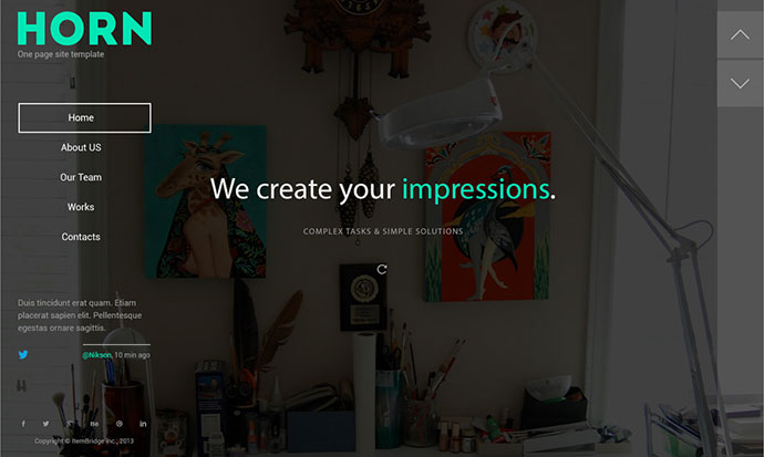 Horn — Responsive OnePage Template