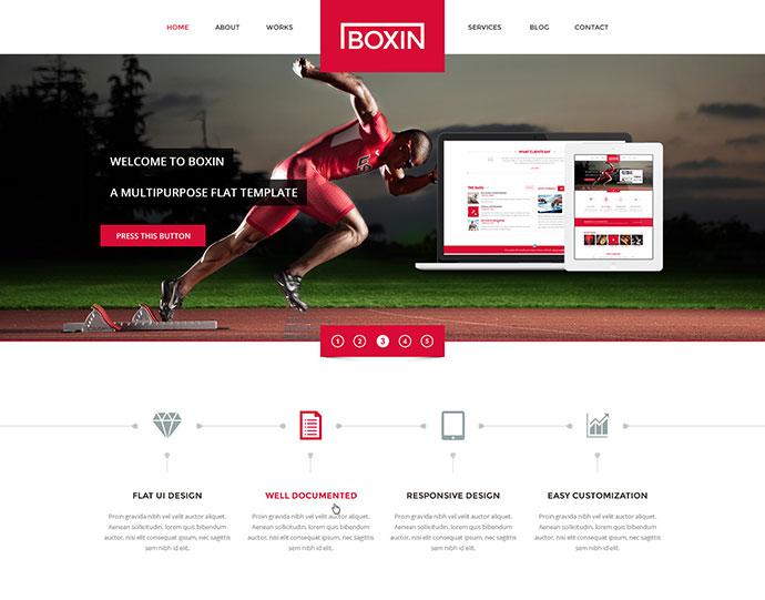 Boxin - Flat Creative HTML Template