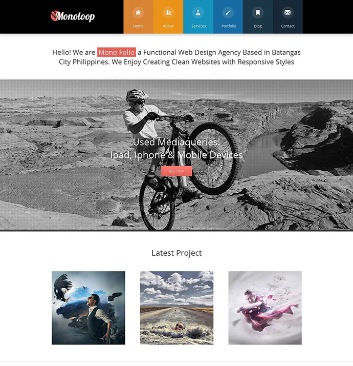 Monoloop - Responsive One Page HTML5 Template