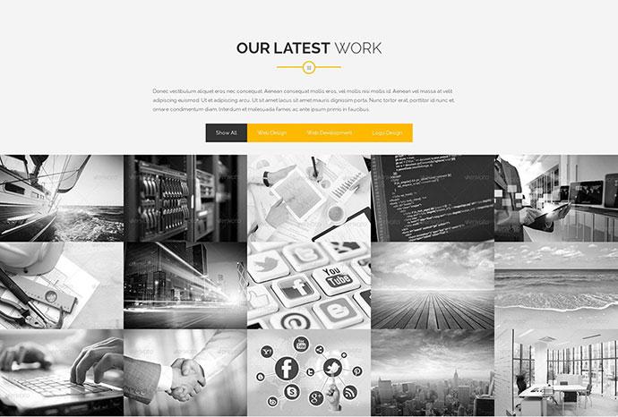 Arfolio - One Page Responsive Portfolio Template