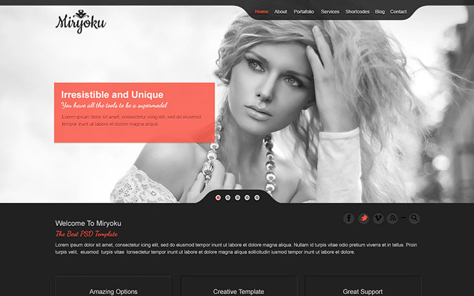 Miryoku One Page Template HTML Version