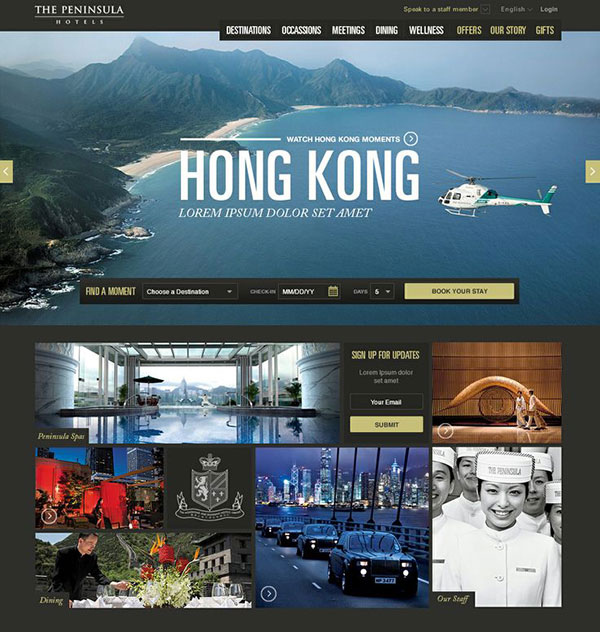 Peninsula Hotel site concept