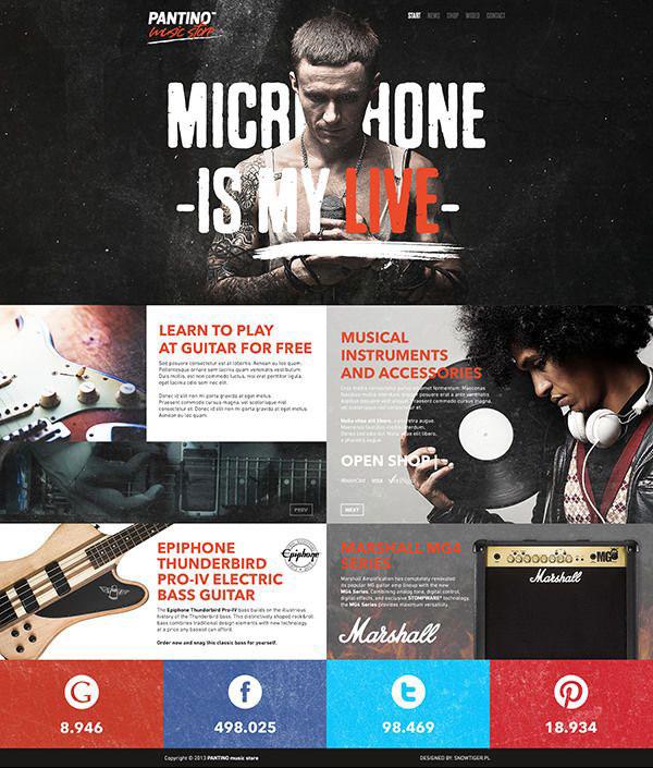 music store website